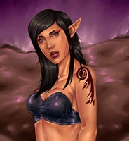 Elven Lady by TheComicStream