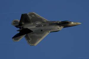 F22 Raptor over Kadena by pilotroom