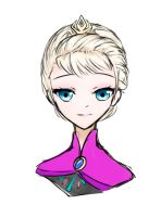 Elsa Sketch by Crescentwing23