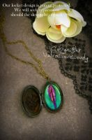 Bohemian Wanderer: Yonic Vulva Locket by VulvaLoveLovely
