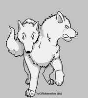 Two-Headed canine template by truGIRobsession