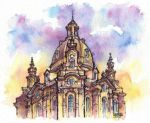 Dresden watercolor illustration by Kot-Filemon