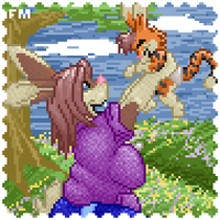 Furc Port: Vesra and Baby by firepixie
