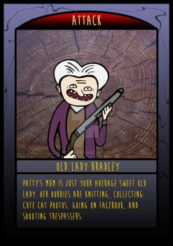 The Frighteners Card 6 - Mrs Bradley by kickm