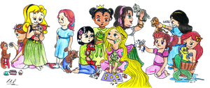 Kid Princess Disney by Group-of-carol-15