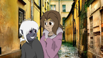 Dilian and Xan  in city by YKnox