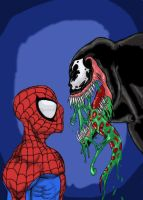 Spidey VS Venom SFA2 COLORED by EvilHayato
