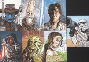 Star Wars Sketch Cards 2 by tedwoodsart