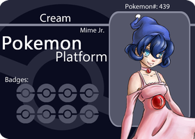Mime Jr Battle Card by Aunril