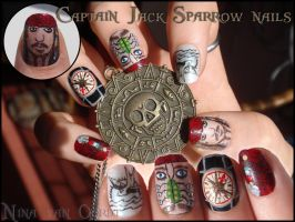 Captain Jack Sparrow nails by Ninails