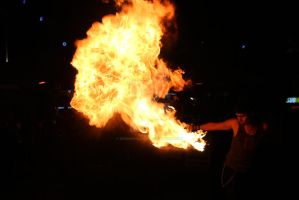 Fire breathers in Montpellier by MorningGlory34