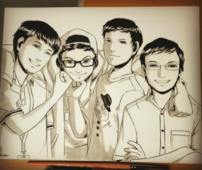Highschool Male Friends by Resa11