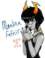 Malina Fafnir Homestuck Fan Troll for chrysanths by Lunar-Jasmine