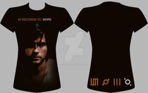 30 Seconds To Mars T-Shirt 5 by SnowBlueWolf