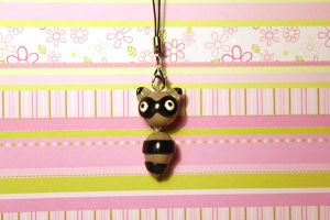 Derpy raccoon Key-chain/ charm by KiwiPheonix