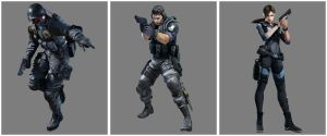 Resident Evil Revelation New Hunk Chris Jill by stalkersdxx