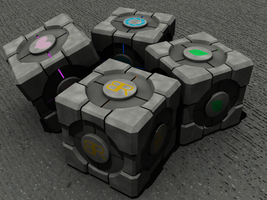 Custom Portal Cubes - Day by Neon2005