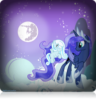 Princess Luna and Snowdrop in the Night by NightmareLunaFan