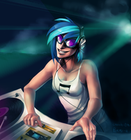 Vinyl Scratch by purmu