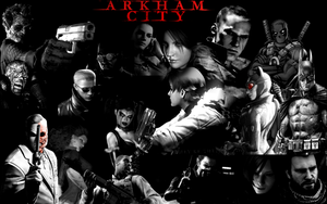 Arkham City Fanfiction Full Roster Wallpaper by TheARKSGuardian