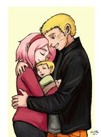 Naruto and Sakura - Family by TheLivingShadow