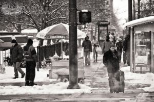 Snowing Downtown by BStadler