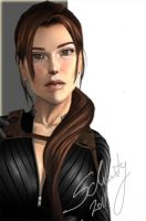 Lara Croft - face details by Schuty