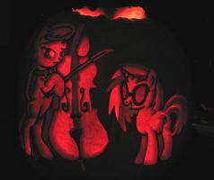 Octavia and DJ Pon3 Pumpkin by archiveit1