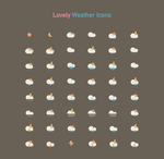 Lovely Weather Icon by customicondesign