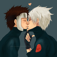Yamato and Kakashi by CarrotCakeBandit