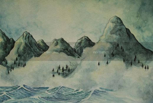 Misty mountains by May-Paontaure