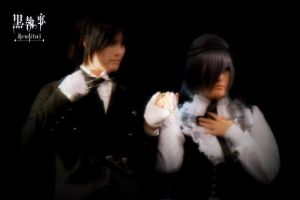 Yes my lord - Sebastian and Ciel by XxMyxWouldxX