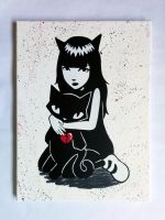 Everyone loves cats! canvas stencil by prometteu