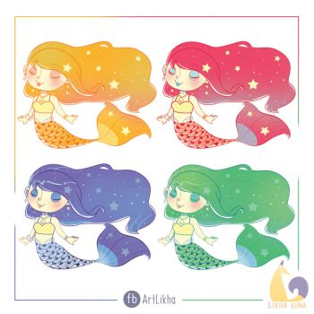 :Sticker: Astral Mermaids~ by KitsuMiro