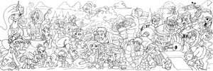 Nakama is Magic:  Before the Winter-WrapUp Lineart by Irie-mangastudios