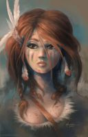 Native Girl by REKLAS