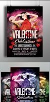 Valentine's Celebration Flyer Template by Arrow3000Graphics