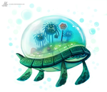 Day 825. Turtle Cabbie by Cryptid-Creations