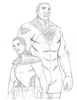 Adama and Gilead sketch by Chizel-Man