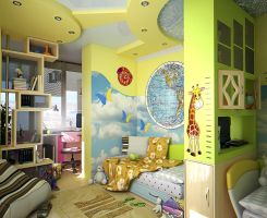 kid's bedroom interior by doubleagent2005