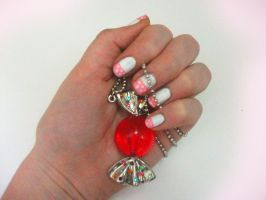 Pink Candy Nails by RoxysSlushPuppie