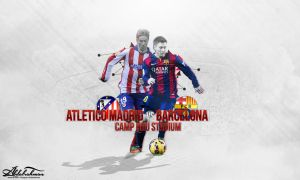 wallpaper atletico madrid vs barcelona by Designer-Abdalrahman