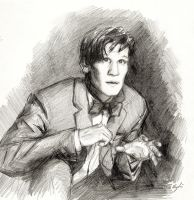 11th Doctor by sydniart