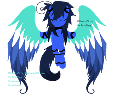 Winged Goth Pony Adopt (Open) by Mifune-circus