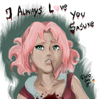 Sakura Haruno _ Sad Moment by DuckySeeYou