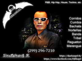 Flyer for DJ Arkangel by mikethedj4