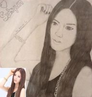 Sketch of SNSD's Seohyun by LuvYen101