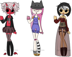 Adopt Set - More Monster Gals - CLOSED by rosie-wosie
