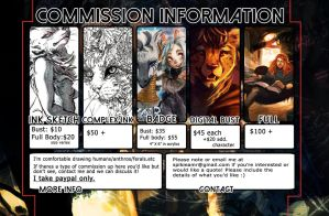 Commission Sheet [OPEN] by Spikie