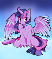 Alicorn Twilight by f-sonic